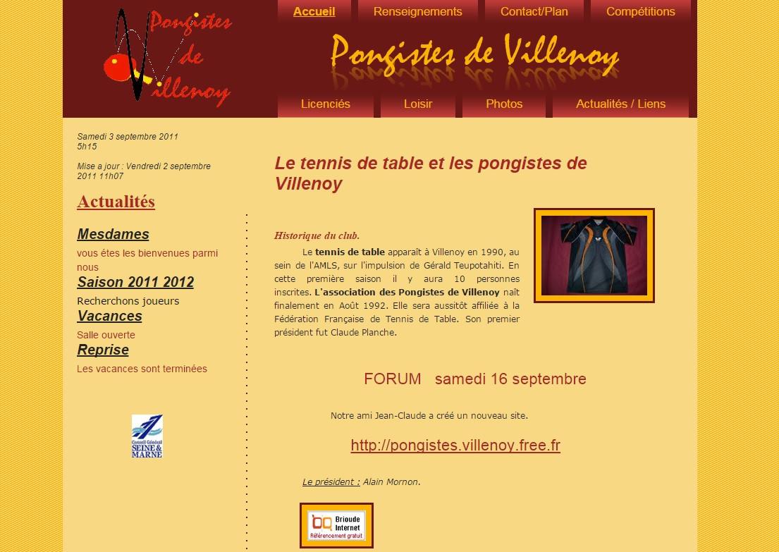 Les pongistes de Villenoy